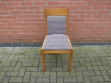 GTC2 Dining Chair with Grey Upholstery
