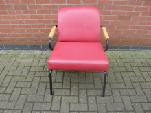 ARRL1 Armchair in Red Leather