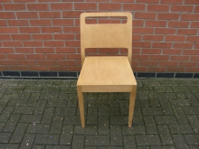 LWHH68 Dining Chair in Lightwood