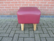 LBS15 Low Bar Stool in Red Faux Leather