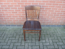 RSLD10 Restaurant Dining Chair in Dark Wood