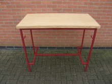RMHC2 High Table. Metal Frame with Oak Top. Width 121cm