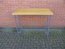 HTGL3 High Table. Metal Frame with Oak Top. Width 120cm
