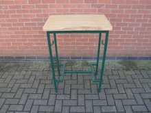 GMHT7 High Table. Metal Frame with Oak Top. Width 70cm