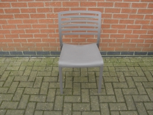 GYPL39 Restaurant Dining Chair in Grey Plastic
