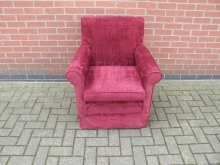 CLRC2 Armchair with Claret Upholstery