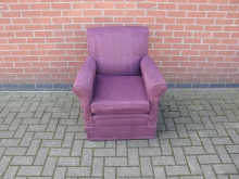 PRPC3 Armchair with Purple Upholstery
