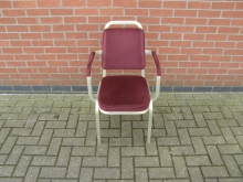 RDBA12 Burgess Stacking Chair with Arms. Aluminium Frame