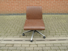 SWBF5 Swivel Office Chair in Brown Faux Leather