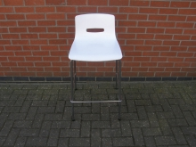 HSWP4 High Stool in White Plastic