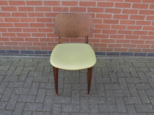 RDCG17 Restaurant Dining Chair with Green Seat Pad