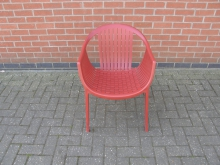 PEDR3  Pedrali Tatami 306 Designer Outdoor Chair in Red