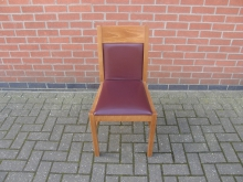 DRBC3 Restaurant / Bistro Chair with Dark Red Upholstery