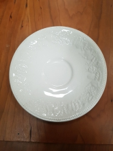 TPBX60 White Patterned Saucer by Barratts