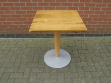 SWT5 Pedestal Table with Solid Wood Top