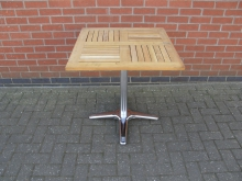 LWSQ3 Square Pedestal Outdoor Table. Top 70cm x 70cm