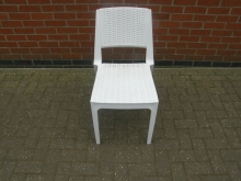 PWOC01 Plastic Rattan Look White Outdoor Chair