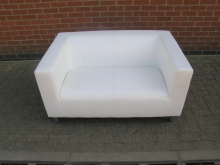 SWU04 Two Seater Sofa in White
