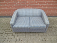 BPSB01 Blue Patterned Sofa Bed