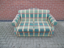 CPS01 Two Seater Sofa in Check Pattern Fabric