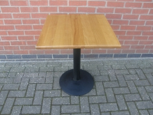 LWT36 Pedestal Table with Lightwood Top