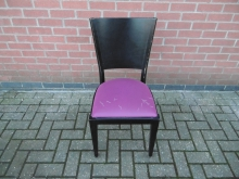 BPRC27 Dining Chair With Purple Seat Pad *For Re-Upholstery*