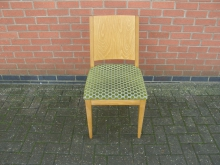 SPG20 Restaurant Dining Chair with Green Spotted Upholstery