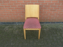 RSP20 Restaurant Dining Chair with Red Spotted Upholstery