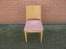 RWCH20 Restaurant Dining Chair with Red and White Upholstery