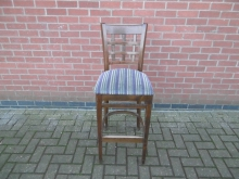 HBS06 High Bar Stool With Stripey Seat Pads