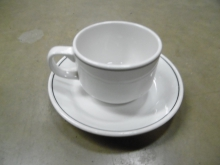 CCAS14 Set Of 14 Stacking Teacups and Saucers