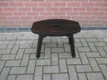 LSD01 Low Dark Wood Stool