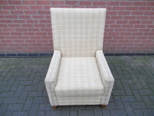 UAC03 Upholstered Easy Chair in Check Fabric