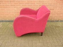 RSAC4 Retro Style Armchair in Red