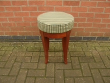 LBSS3 Low Bar Stool with Striped Seat