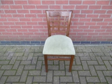 DGDC04 Dining Chair With Green Seat Pad