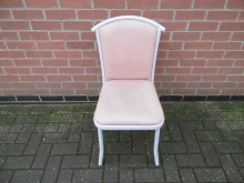 RC020 Restaurant Chair with Grey Metal Frame and Salmon Pink Upholstery