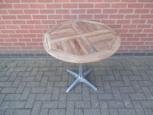 ORTD02 Round Outdoor Table with Teak Top