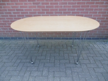 RDRCT1 Oval Dining Restaurant/Conference Table With Chrome Legs