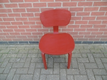 RRRDC1 Red Retro Style Restaurant Dining Chair