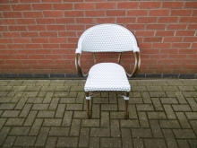 WWTB1 Wicker Weave Bistro Chair with Aluminium Frame