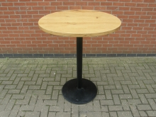 RHPT1 High Poseur Table with 90cm Diameter Solid Wood Top