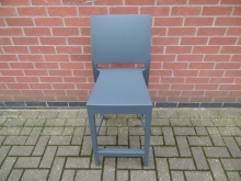 GPHB1 Grey Polypropylene High Bar Stool