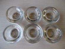 TL12 Glass Tealight Holders, Set of 6