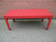 LRED01 Large Rectanglular Red Table