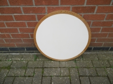 RTTWO5 Round Table Top - White and Oak