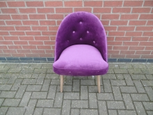PVTB5 Purple Velvet Tub Style Chair with Button Back