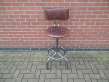 HBIS01 Industrial Style Metal Framed High Bar Stool