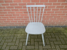 GOAC1 Vintage Grey Aluminium Dining Chair