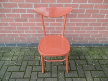 DCOM4 Orange Metal Dining Chair